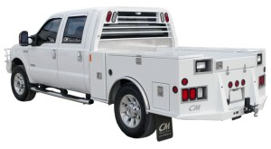 TM Truck Bed mounted on single wheel ford Streer Side View